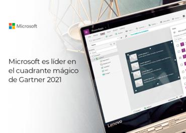 Microsoft es reconocido como líder en el Cuadrante Mágico de Gartner 2021 con Power Apps